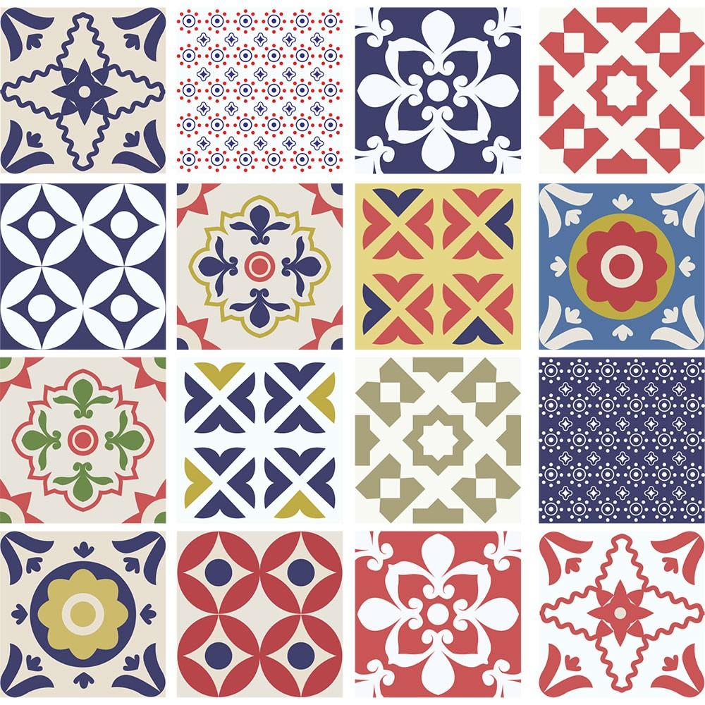 KIT Adesivos de Azulejos Harmonia Colorida