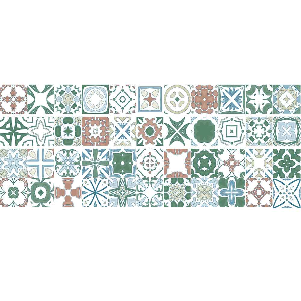 KIT Adesivos de Azulejos Harmonia Olivia