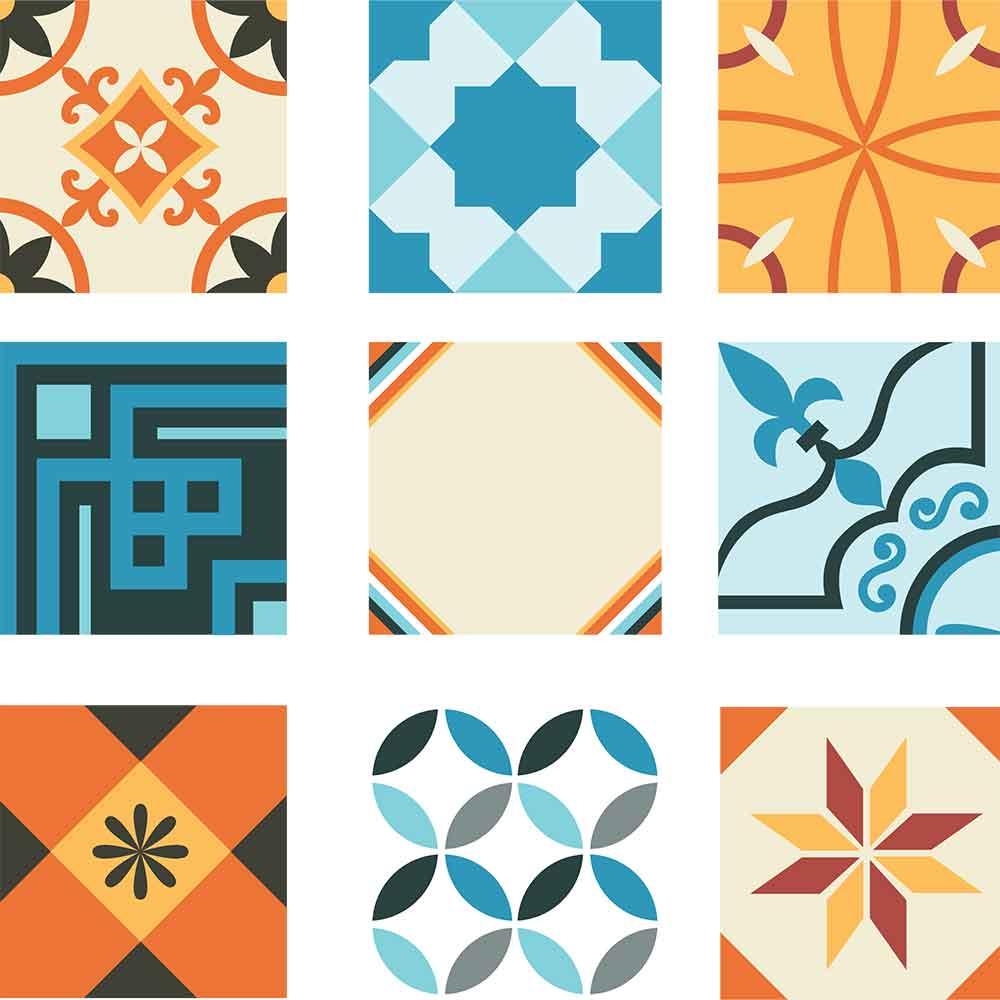 KIT Adesivos de Azulejos Hidraulico Variado
