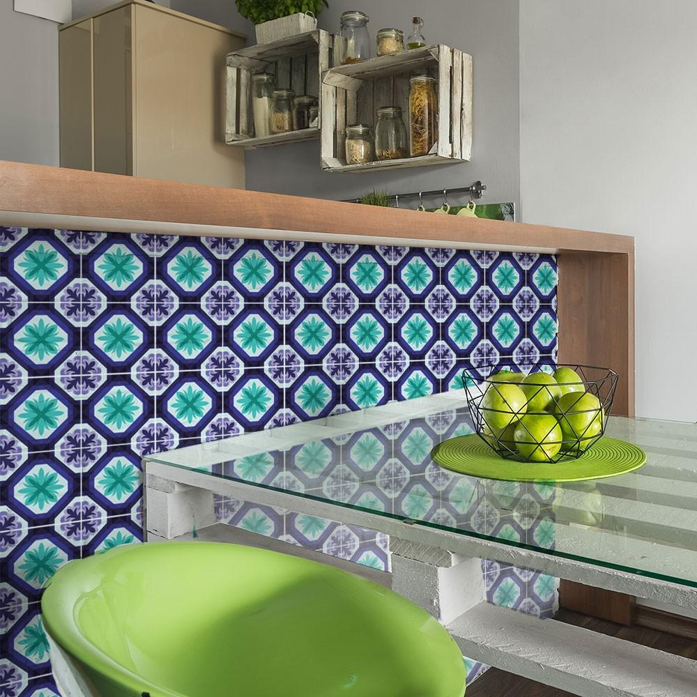 KIT Adesivos de Azulejos Hortelã