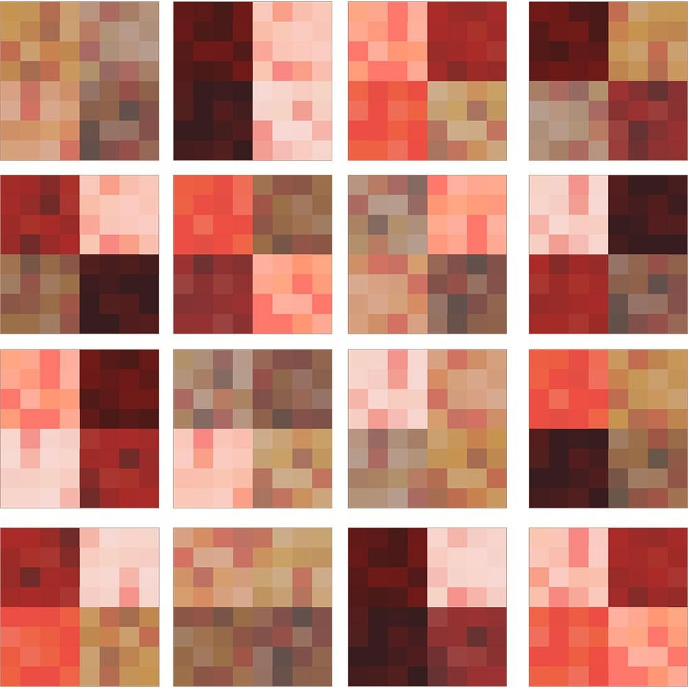 KIT Adesivos de Azulejos Hot Pixels