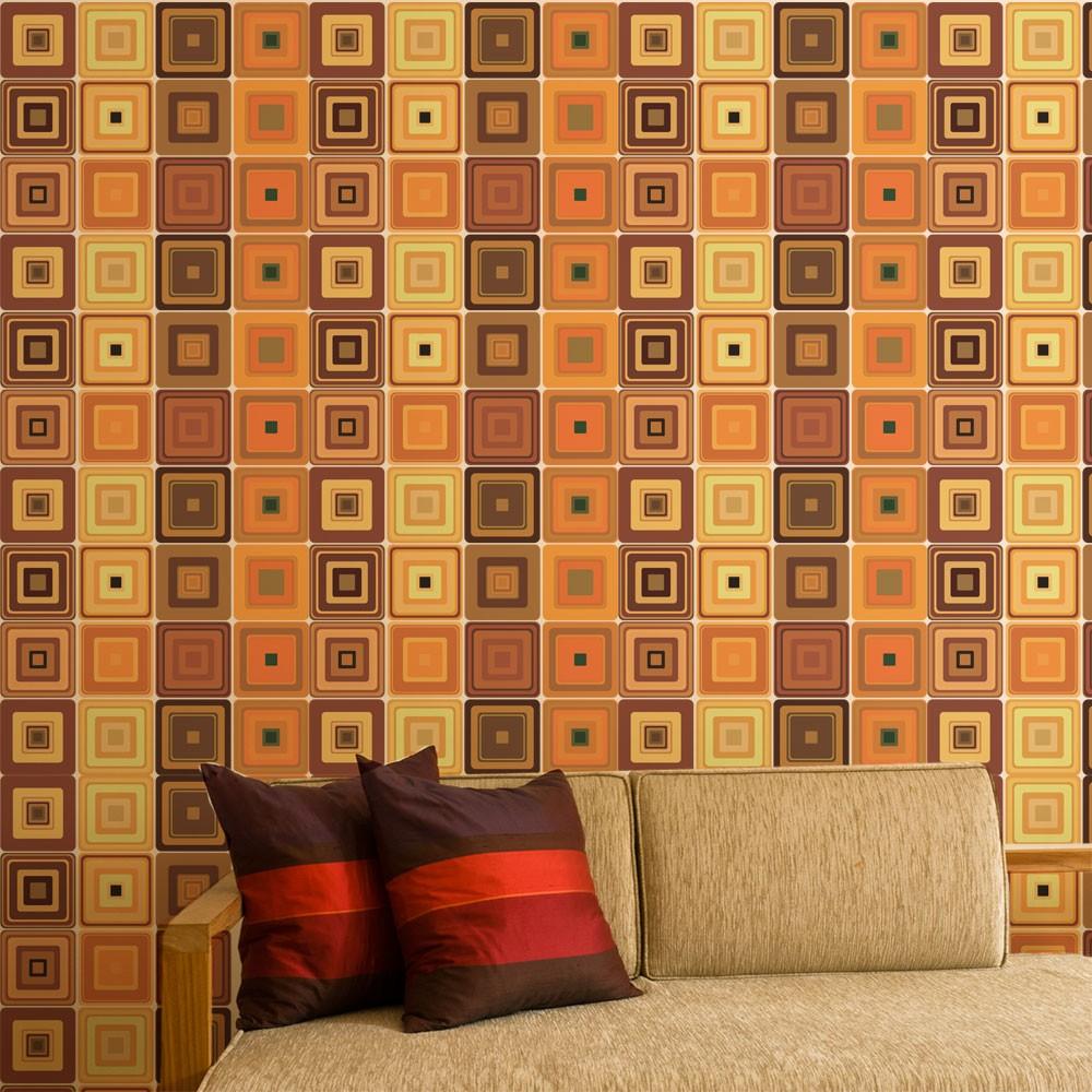 KIT Adesivos de Azulejos Illusion Brown