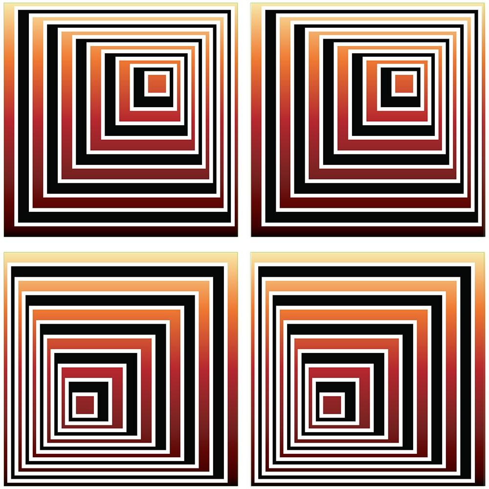 KIT Adesivos de Azulejos Ilusão Piramidal