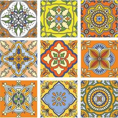 KIT Adesivos de Azulejos Imperial Orange