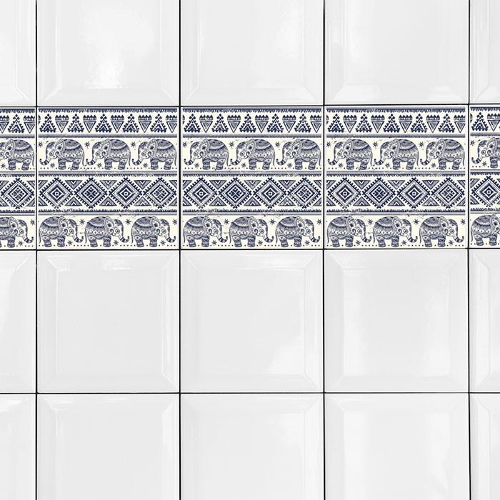 KIT Adesivos de Azulejos Indianos