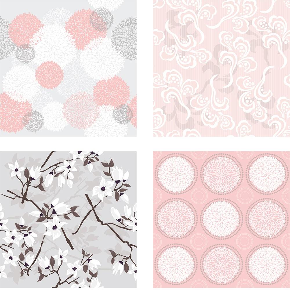 KIT Adesivos de Azulejos Inverno Rosa