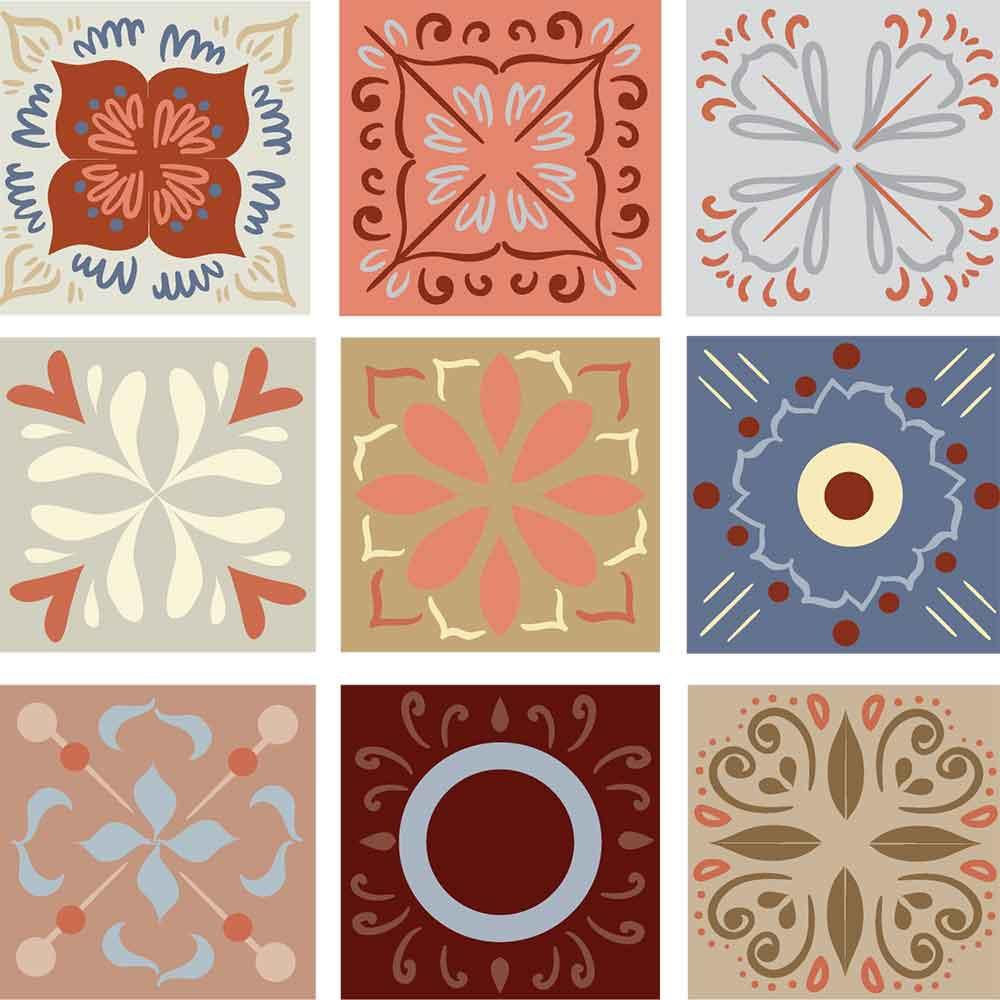 KIT Adesivos de Azulejos Jardins