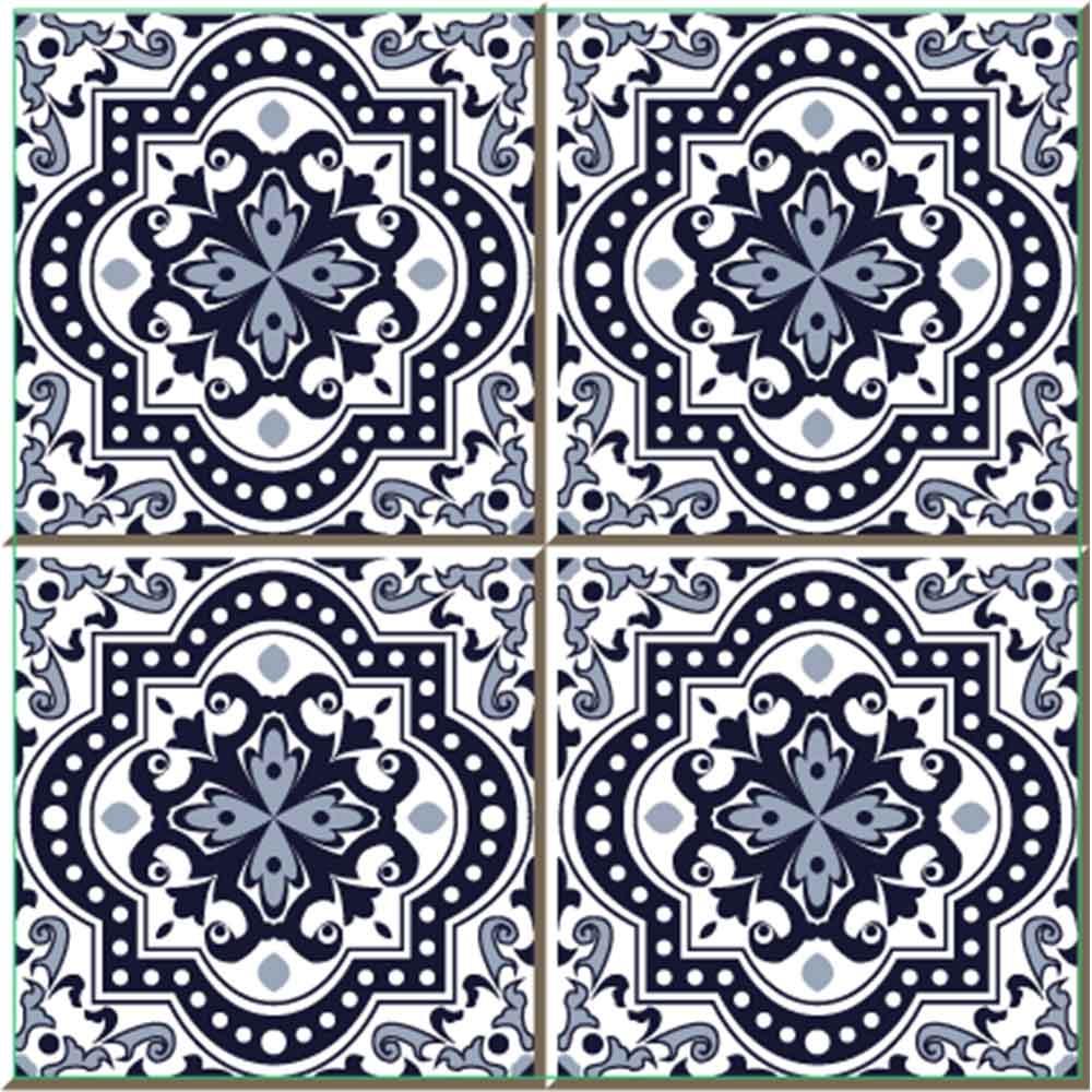 KIT Adesivos de Azulejos Mosaico Vintage