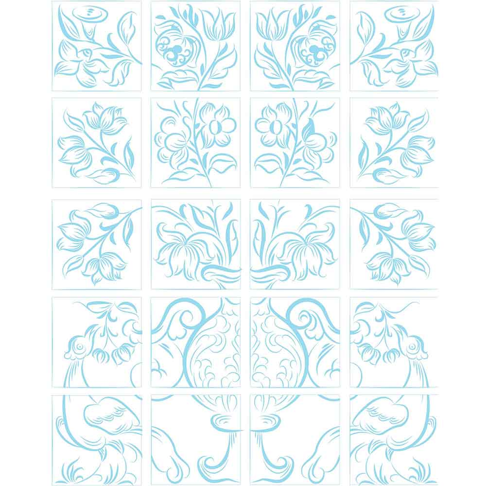 KIT Adesivos de Azulejos Mural Portugues