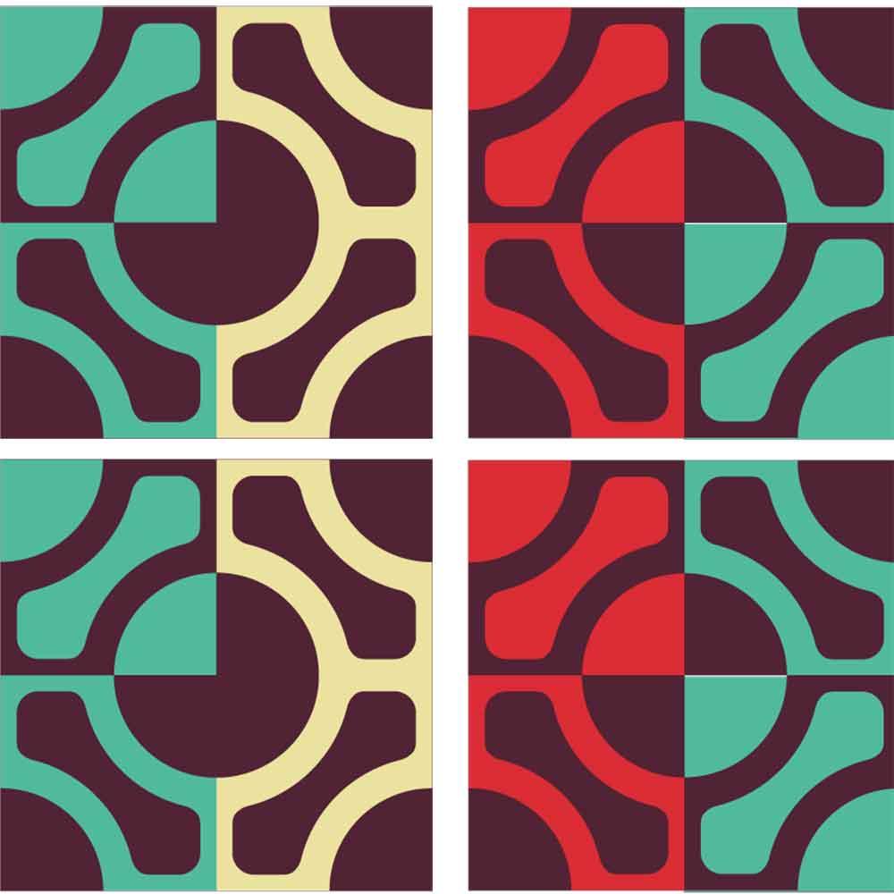 KIT Adesivos de Azulejos Napolitan