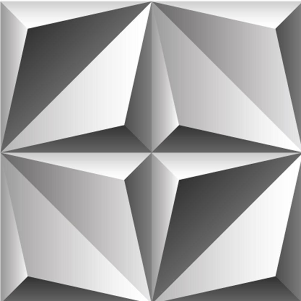 KIT Adesivos de Azulejos Perspectiva Triângulos
