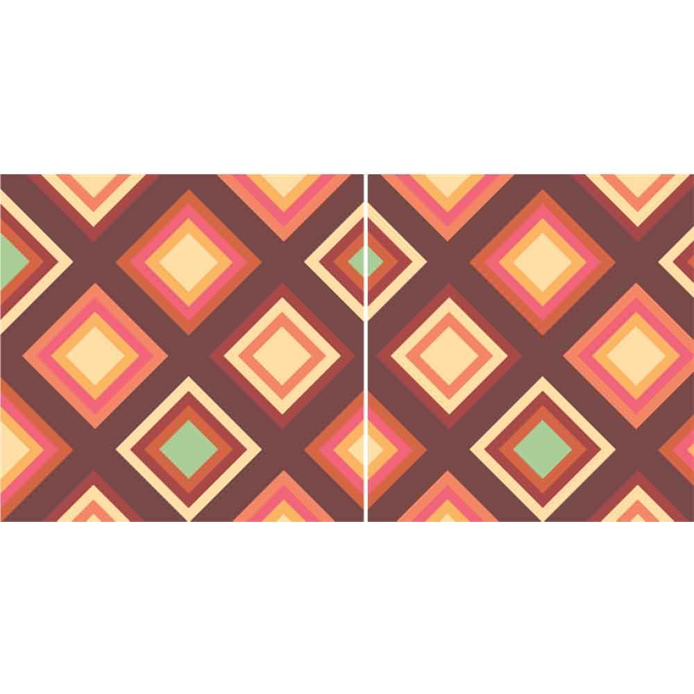 KIT Adesivos de Azulejos Quadrados Quentes