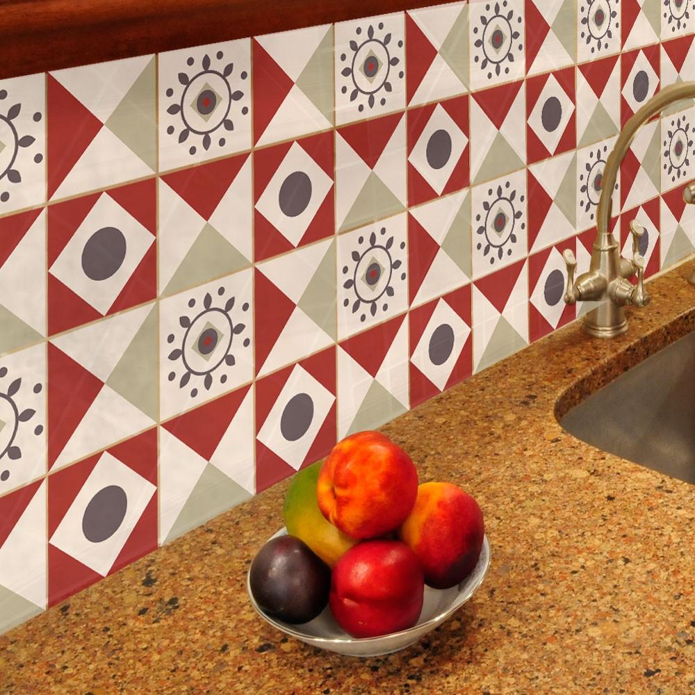 KIT Adesivos de Azulejos Red Nicce