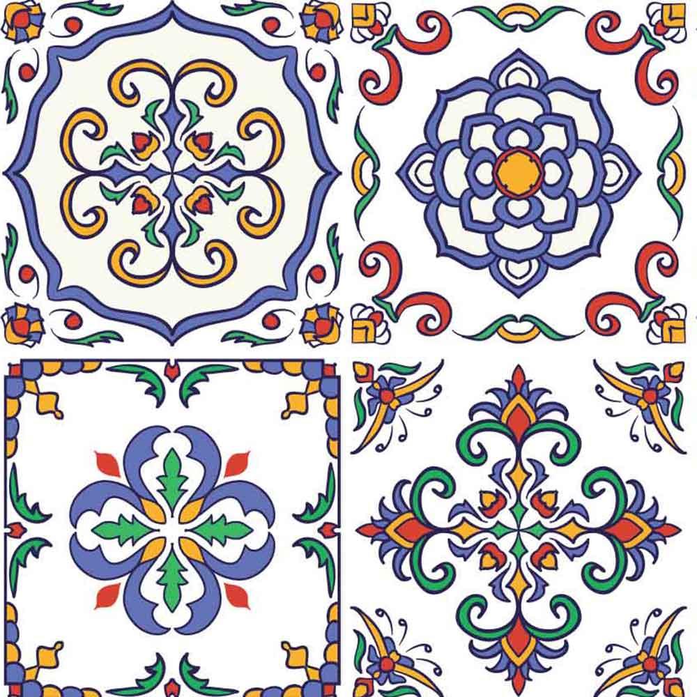 KIT Adesivos de Azulejos Roma Colorida