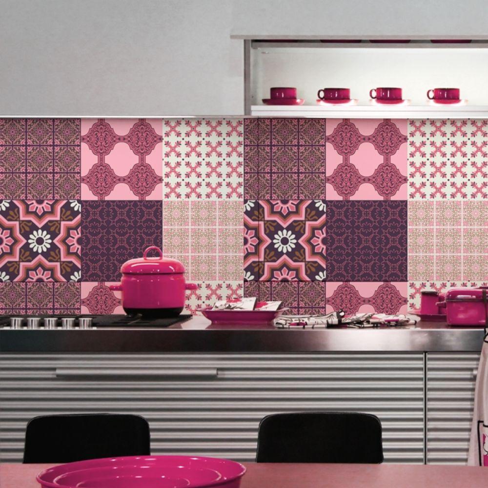 KIT Adesivos de Azulejos Rosa Chic