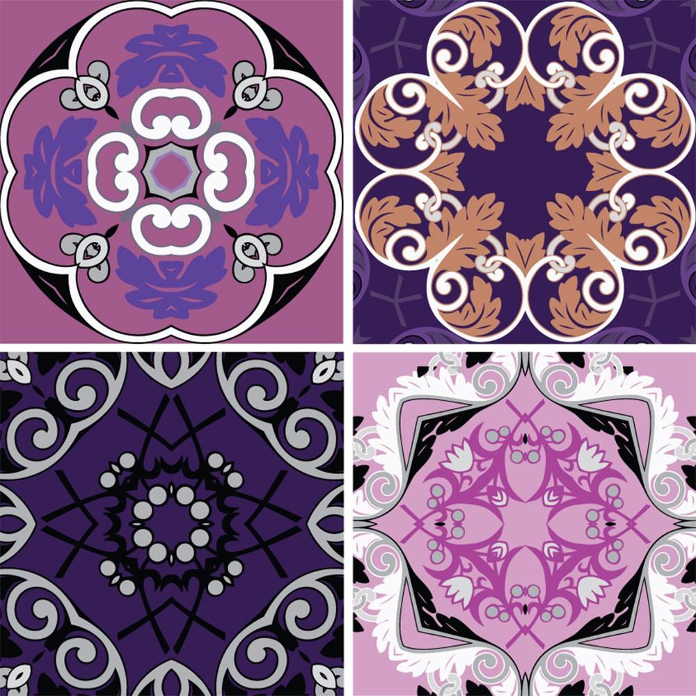 KIT Adesivos de Azulejos Rosa Floral