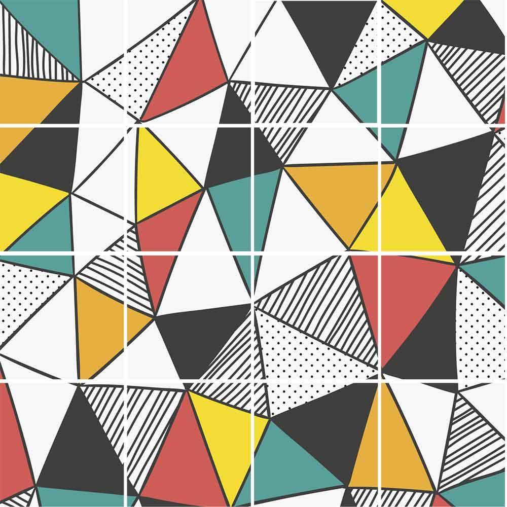 KIT Adesivos de Azulejos Sketch Triangle