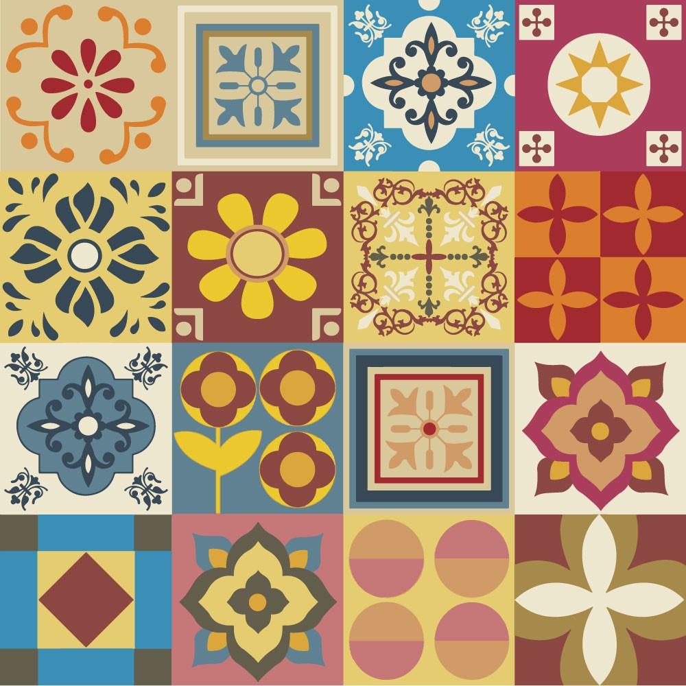 KIT Adesivos de Azulejos Sortidos Bonitinhos