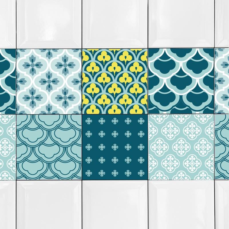 KIT Adesivos de Azulejos Telhado Vintage