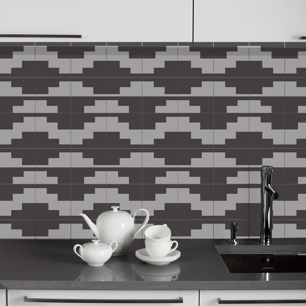 KIT Adesivos de Azulejos Tetris