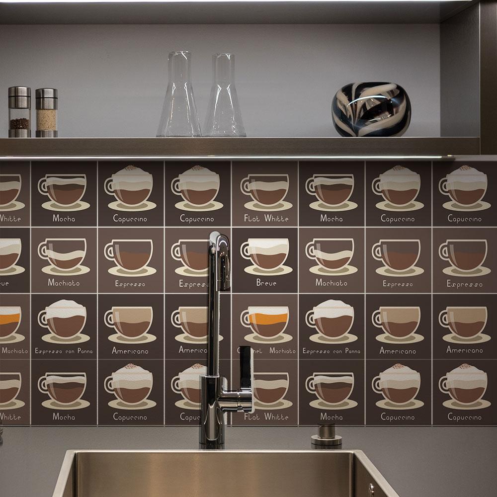 KIT Adesivos de Azulejos Tipos Café