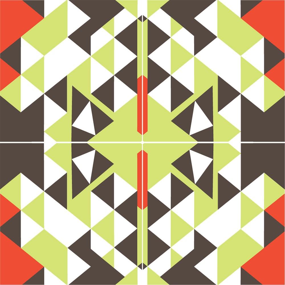 KIT Adesivos de Azulejos Triângulos Quebrados