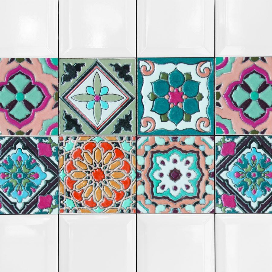 KIT Adesivos de Azulejos Turquesa