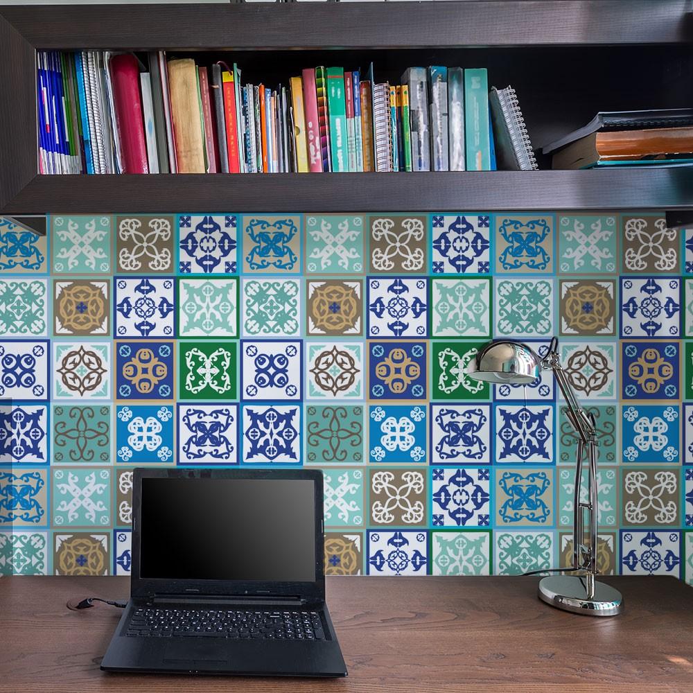 KIT Adesivos de Azulejos Variável Azul