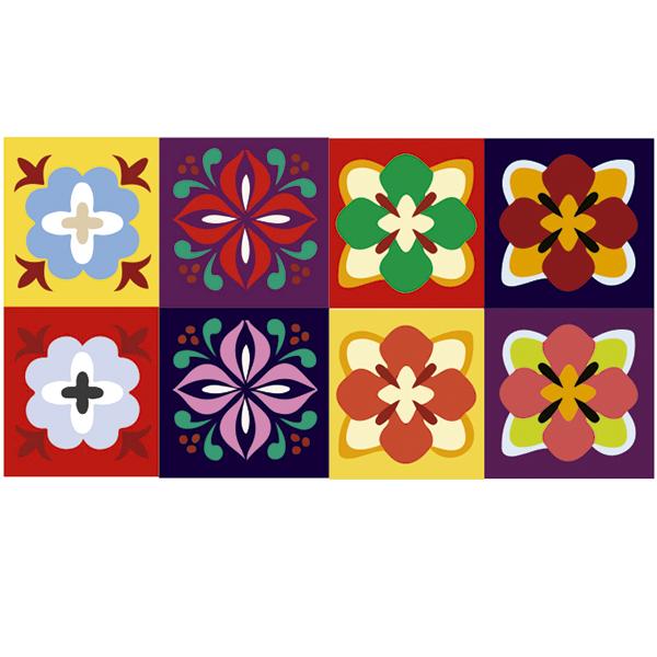 KIT Adesivos de Azulejos Vibrant and Happy
