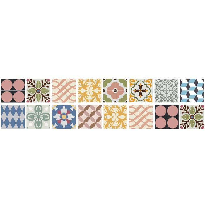 KIT Adesivos de Azulejos Vintage Colors