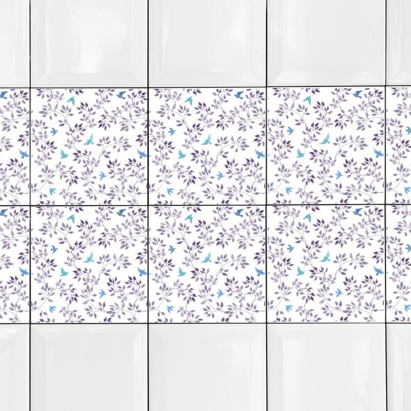 KIT Adesivos de Azulejos Violet Flowers