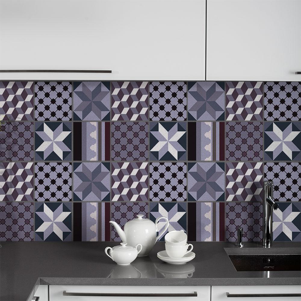 KIT Adesivos de Azulejos Violette