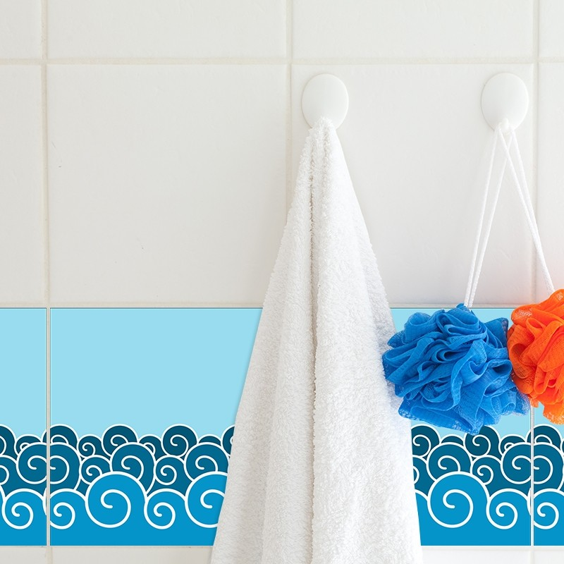 KIT Adesivos de Azulejos Waves