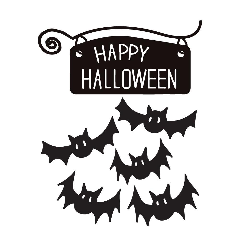 KIT Adesivos Decorativos Halloween Morcegos