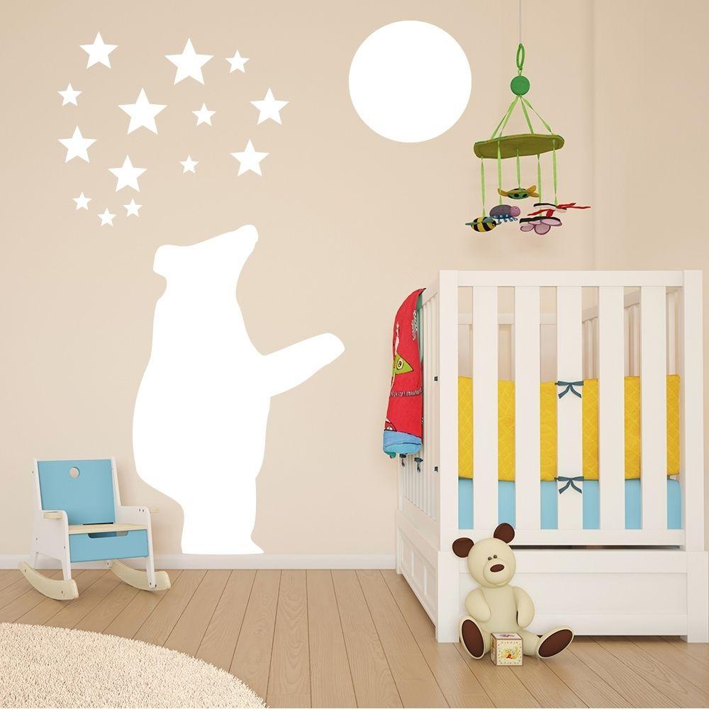 Kit Adesivos Urso e estrelas