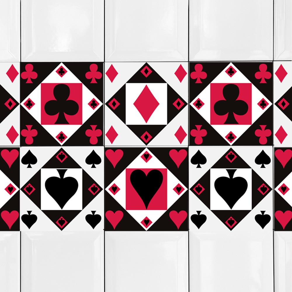 KIT de Adesivos de Azulejo Poker Party