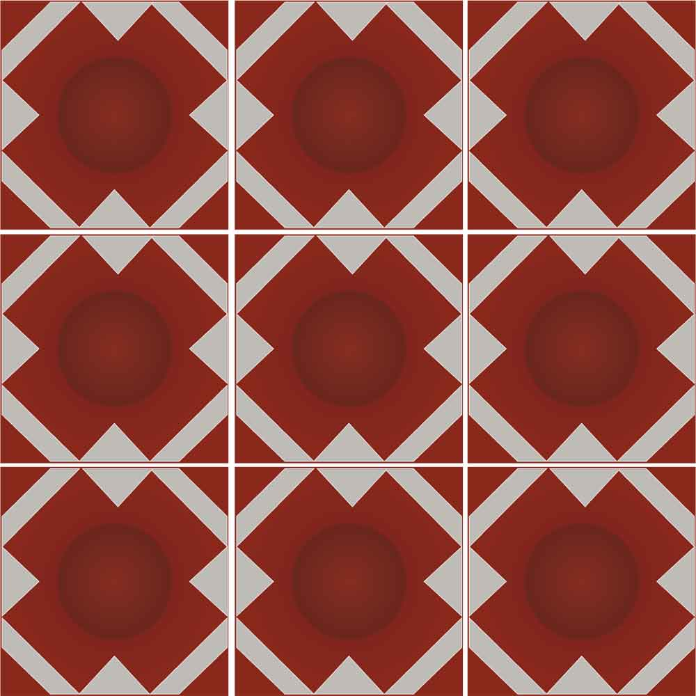 KIT de Adesivos de Azulejo X Vermelho