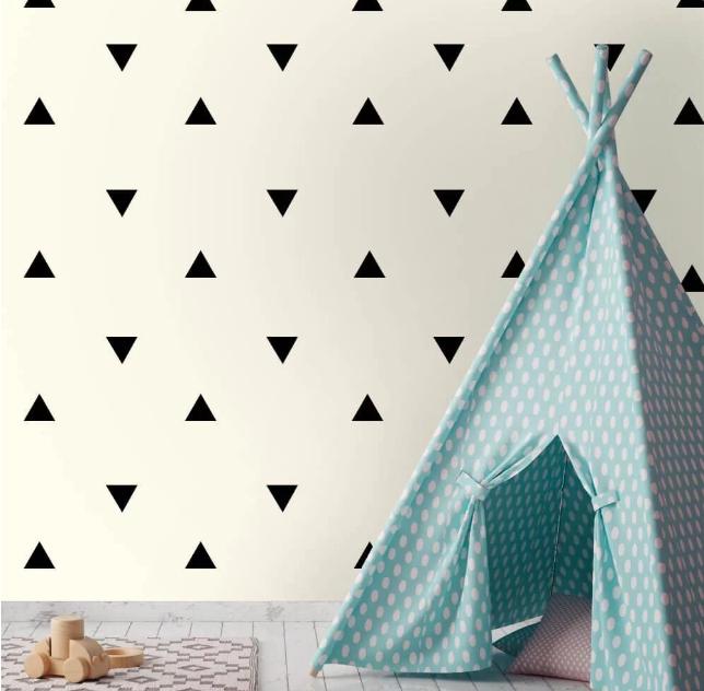 Kit de Adesivos de Parede Triângulos (30 unidades)