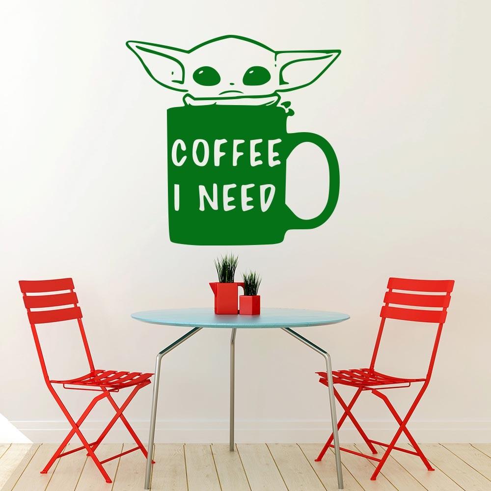 Mandalorian Baby Yoda I need coffee