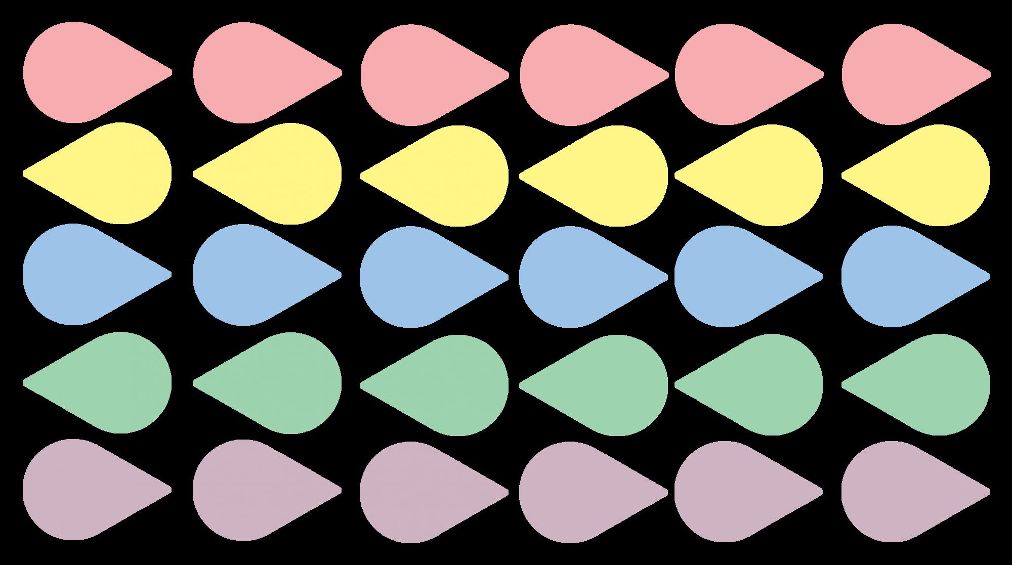 MM021 - Adesivo Gotas de Chuva Coloridas (Kit com 30 Unidades)