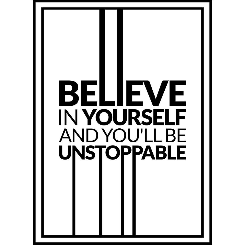MT376 - Adesivo Believe In Yourself