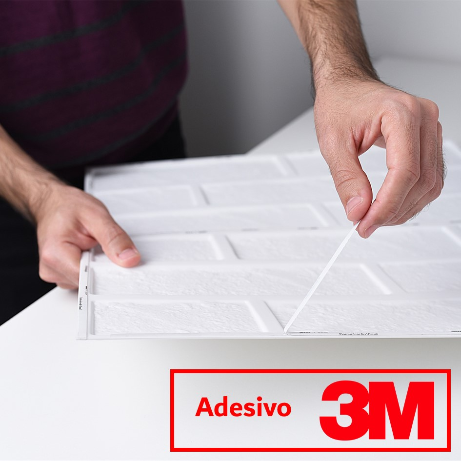 Placa 3D Autoadesiva 25x25 cm Madrid - Linha POP