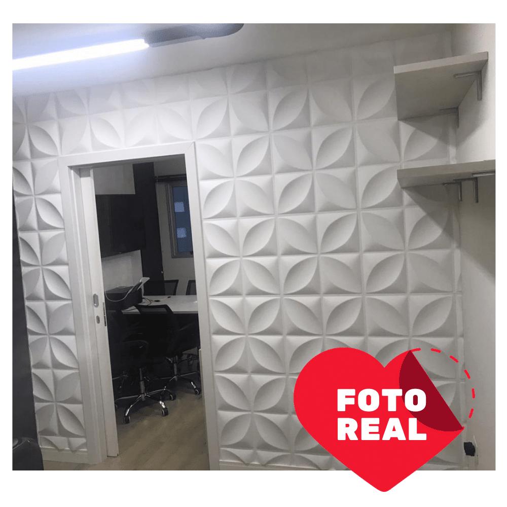 Placa 3D AutoAdesiva 50 x 50 Pétala - Linha POP
