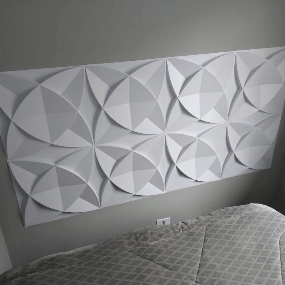 Placa 3D Autoadesiva 50x50 Amsterdam - Linha POP