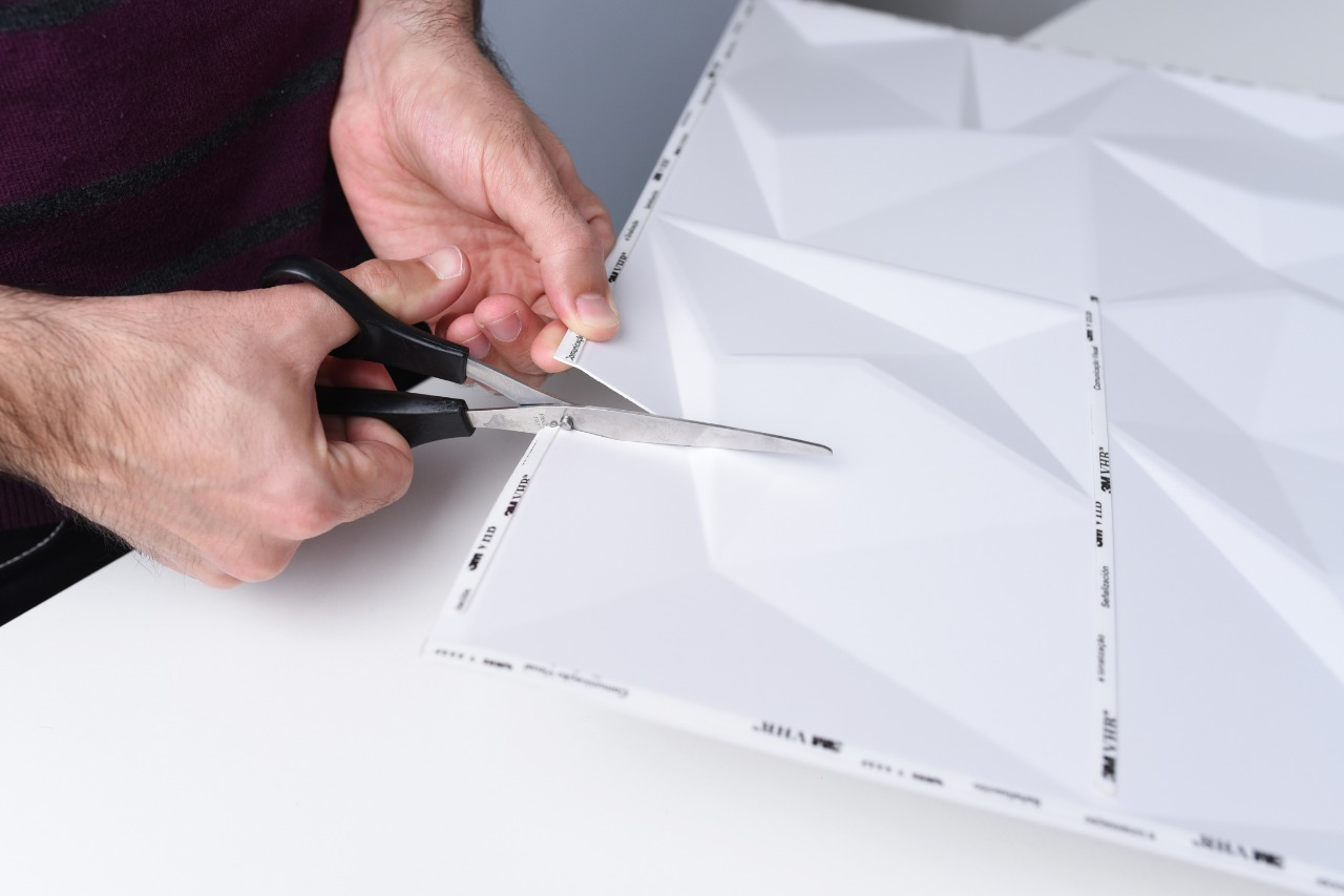 Placa 3D Autoadesiva 50x50 cm Madrid - Linha POP