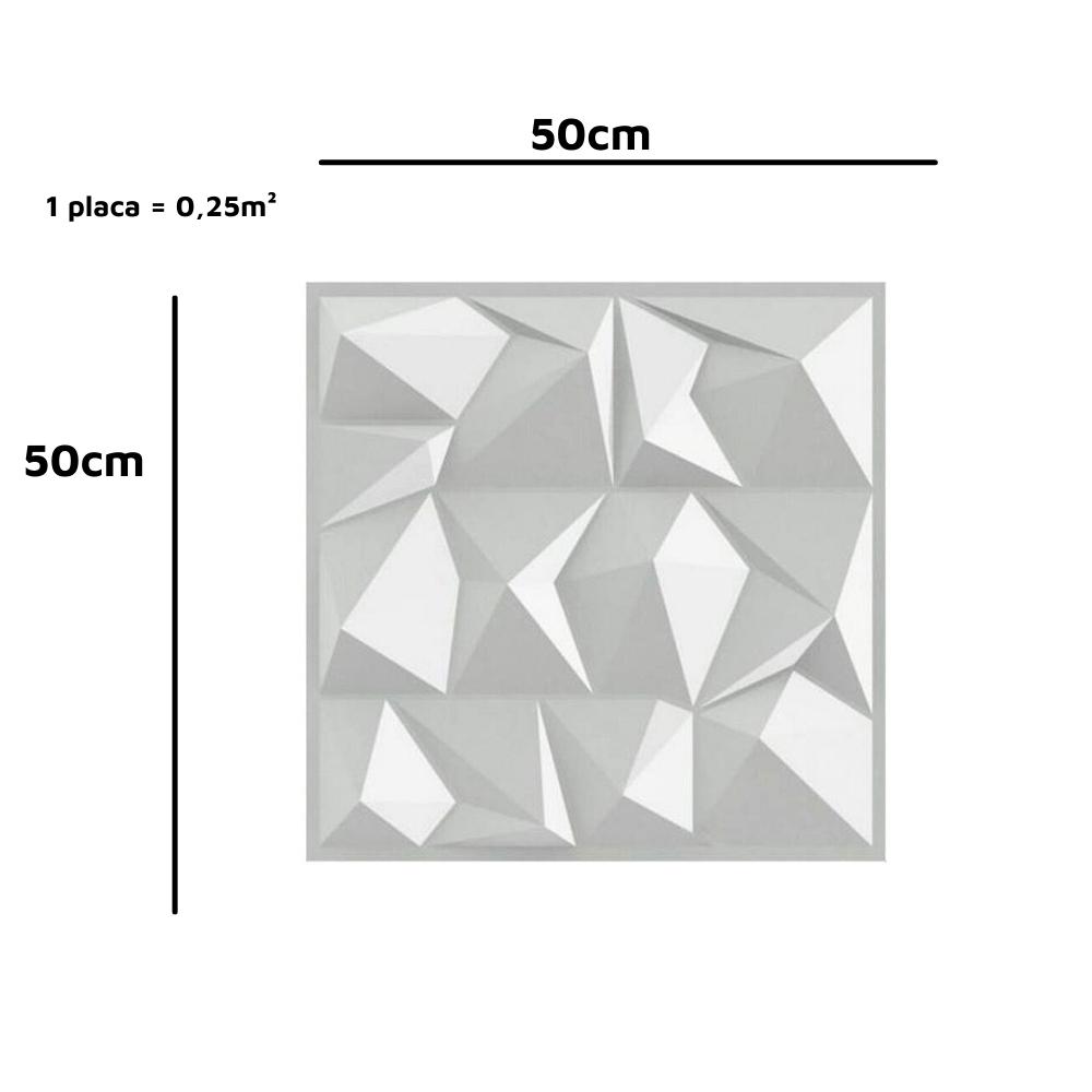 Placa 3D Autoadesiva 50x50 Londres - Linha POP