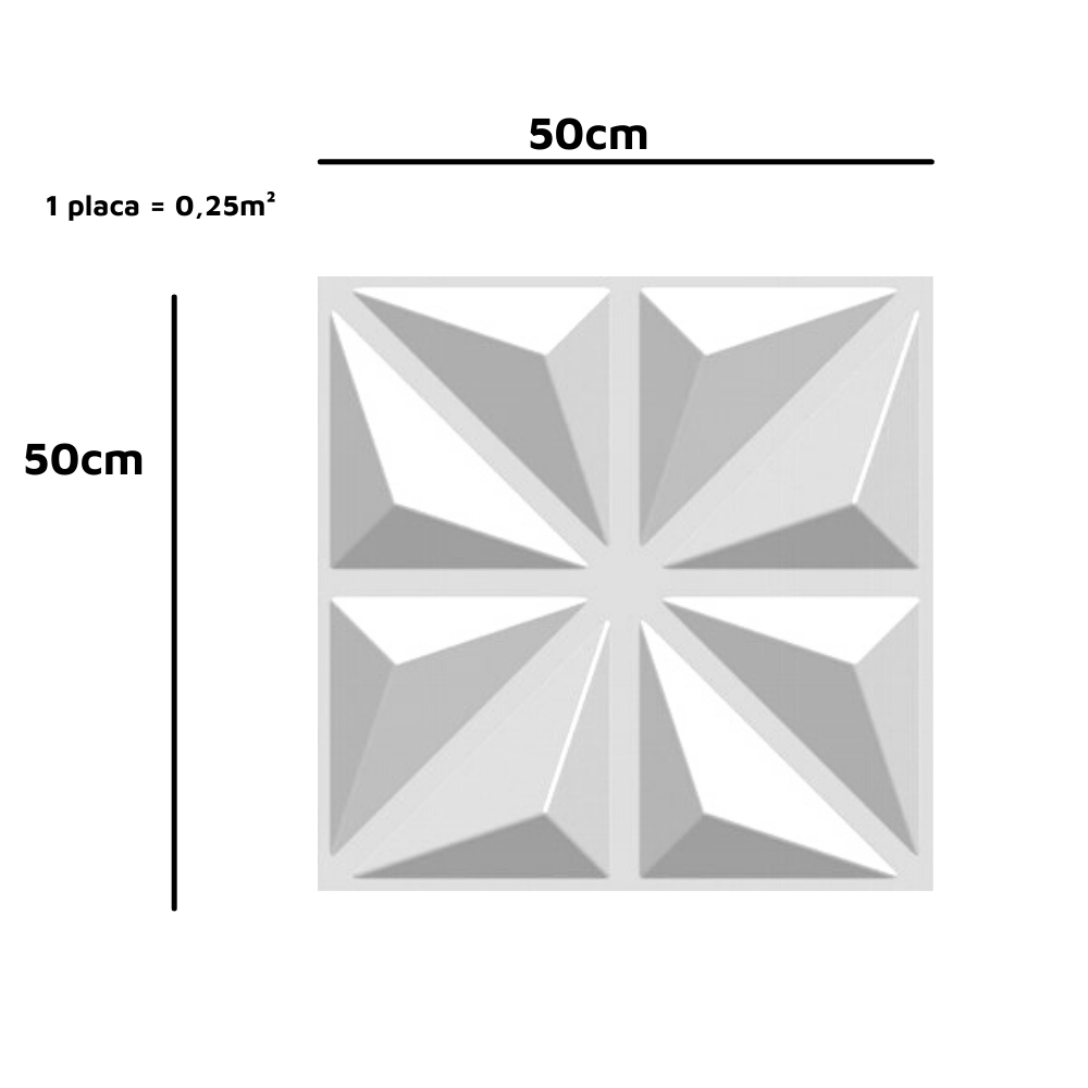 Placa 3D Autoadesiva 50x50 Madri - Linha POP
