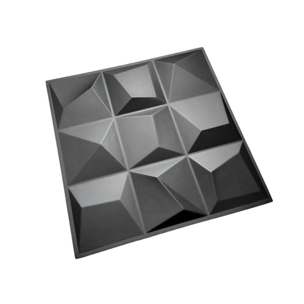 PLACA 3D AUTOADESIVA 50x50CM VÉRTICE DARK - Linha PREMIUM