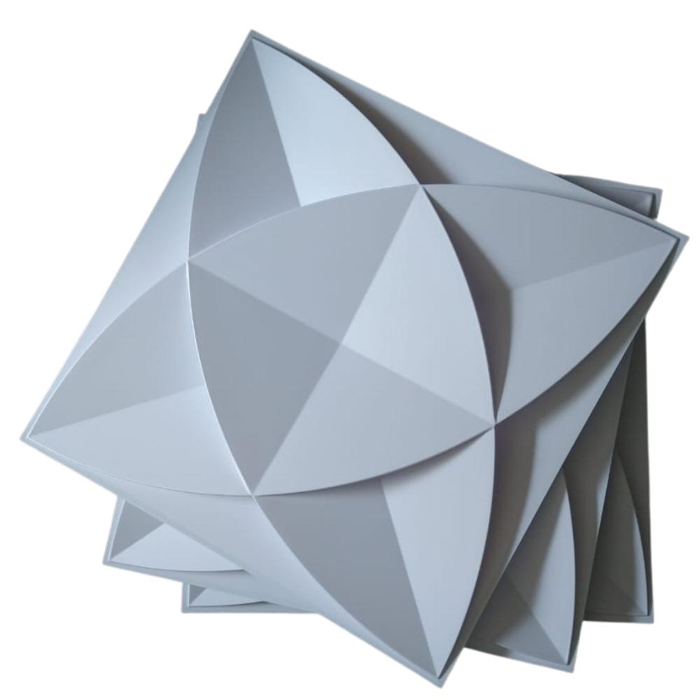 Placa 3D Revestimento 50x50 Amsterdam - Linha PREMIUM