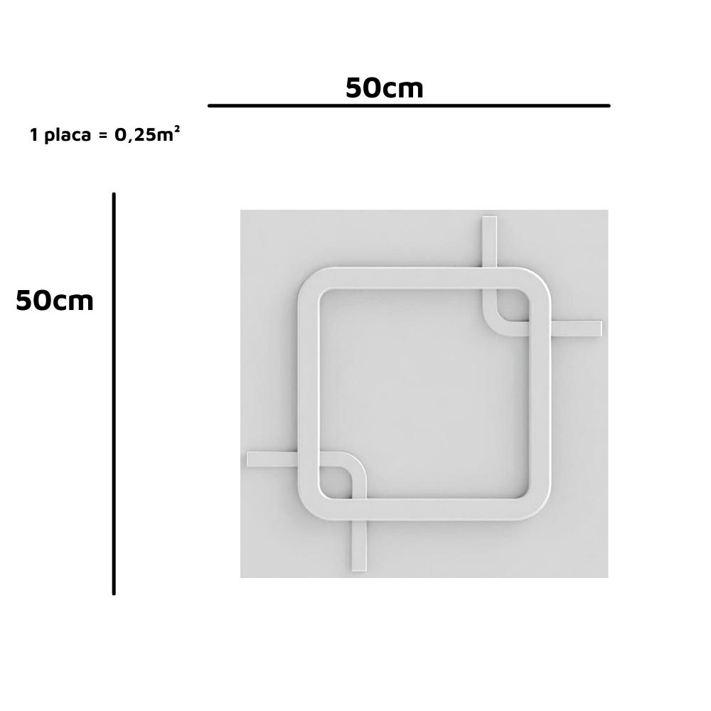 Placa 3D Revestimento 50x50 Square - Linha PREMIUM